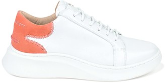 Crafted Society Matteo Low Sneaker - White & Rose Full Grain Leather / White Outsole