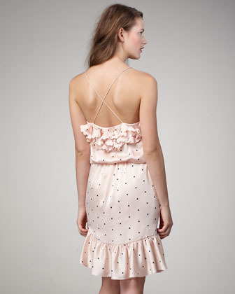 Ali Ro Dotted Blouson Dress