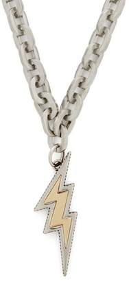 Prada Lightning-bolt Chain Necklace - Womens - Gold