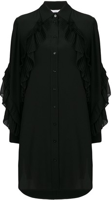 Givenchy Long Sleeve Button-Down Dress