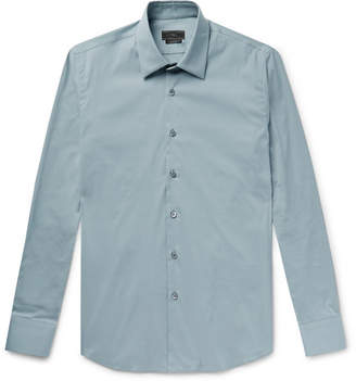 Prada Slim-Fit Stretch Cotton-Blend Poplin Shirt