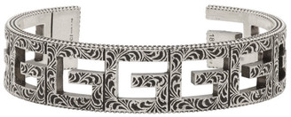 Silver Square G Cuff Bracelet