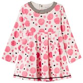 Catimini Pink Spot Needlecord Dress with Printed Neckline