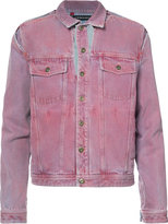 Y / Project - denim cut-out trucker jacket - men - Cotton - 46