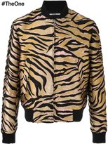 Kenzo tiger stripes bomber jacket - men - Silk/Cotton/Acrylic/Wool - M