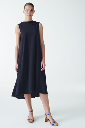 Cos High Collar Midi Dress