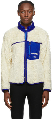 Ambush Off-White Fleece Zip-Up Jacket