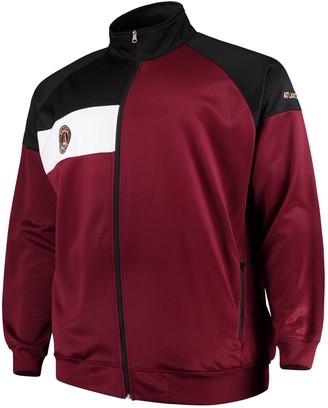 Majestic Men's Red/Black Atlanta United FC Big & Tall Poly Fleece Full-Zip Track Jacket
