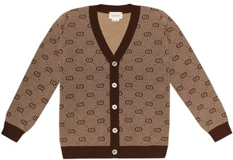 Gucci Kids GG wool-blend cardigan
