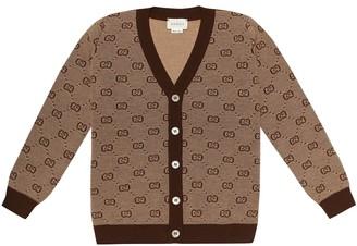 Gucci Kids GG wool-blend cardigan