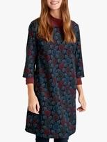 Seasalt West Pentire Dress, Woodcut Floral Dark Night