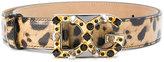 Dolce & Gabbana leopard print logo buckle belt