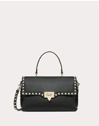 Valentino Garavani Medium Grain Calfskin Leather Rockstud Handbag