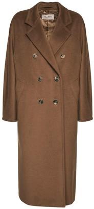 Max Mara Madame Double Breasted Wool Long Coat