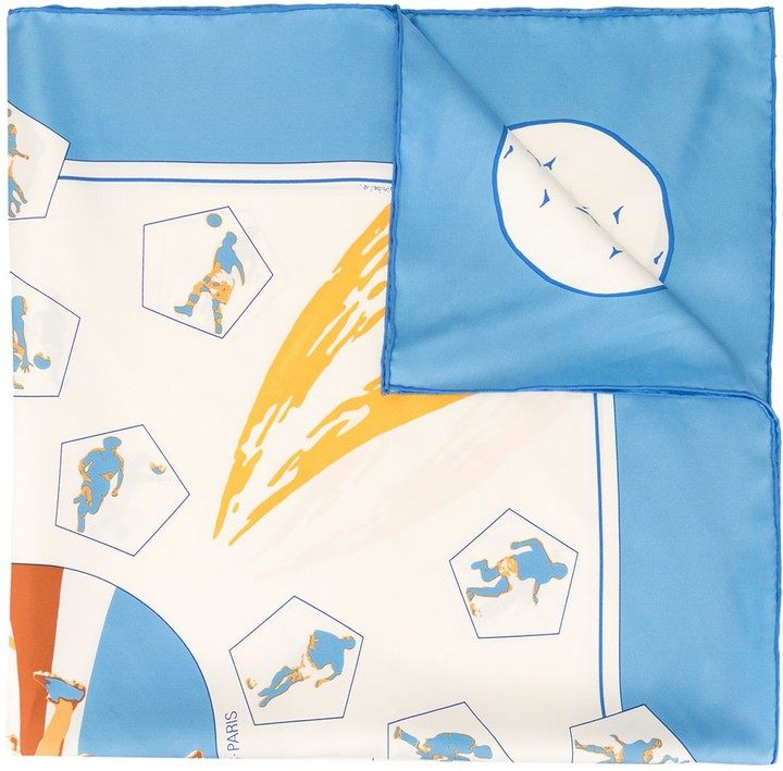 Hermes pre-owned Vive Les Champions scarf