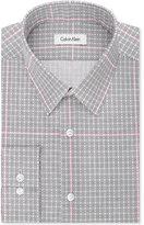 Calvin Klein Men's Fitted Infinite Stretch Grid-Pattern Dress Shirt