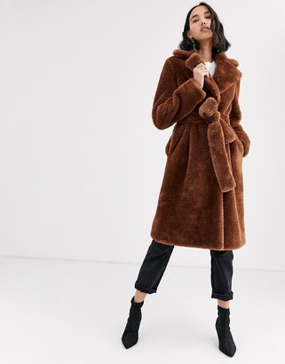 2nd Day Lalla faux fur teddy coat