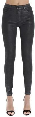 J Brand Glittered Effect Skinny High Waist Jeans