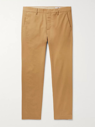 NN07 Dark-Grey Theo Tapered Cotton-Blend Trousers