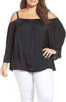 Vince Camuto Plus Size Women's Off The Shoulder Blouse