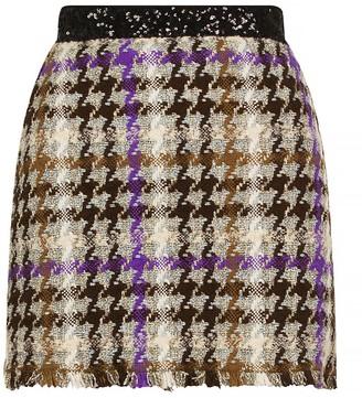 Pinko Checked Hopsack Mini Skirt
