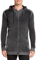 John Varvatos Longline Zip-Up Hooded Sweater