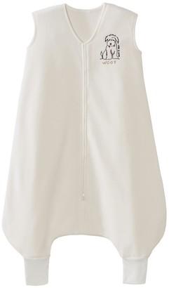 Halo Innovations HALO SleepSack Big Kids Wearable Blanket Micro-Fleece - Cream Dog Woof 2/3T