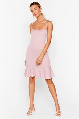 Nasty Gal Womens Flip 'Em Off Ribbed Mini Dress - Rose
