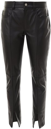 MM6 MAISON MARGIELA Front Slit Leather Trousers