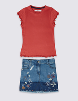 Marks and Spencer 2 Piece Top & Skirt Outfit (3-14 Years)