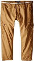 Southpole Men's Big-Tall Basic Cargo Long Pants with Color Matching Belt