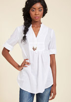 ModCloth Back Road Ramble Tunic in White in S