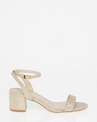 Le Château Glitter Mesh Ankle Strap Sandal