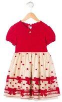 Blumarine Girls' Embellished Short Sleeve Dress