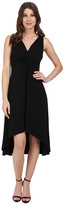 Mod-o-doc Cotton Modal Spandex Jersey Shirred Empire Hi-Low Dress