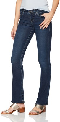 Silver Jeans Co. Women's Aiko Slightly Curvy Fit Mid Rise Slim Bootcut Jeans