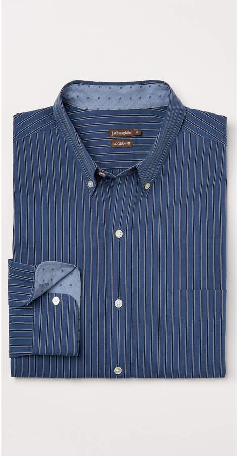 J.Mclaughlin Westend Modern Fit Shirt in Dobby Stripe