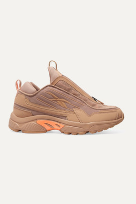 Reebok Gigi Hadid Dmx 2200 Mesh And Leather Sneakers - Blush