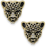 Thalia Sodi Black Crystal Jaguar Stud Earrings, Created for Macy's