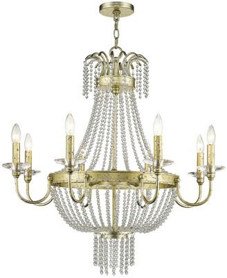 Livex Lighting Livex Valentina 8-Light Winter Gold Chandelier