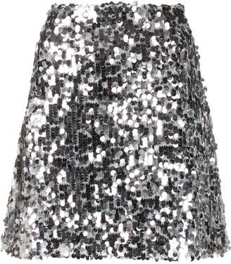 Be Blumarine A-line sequin skirt