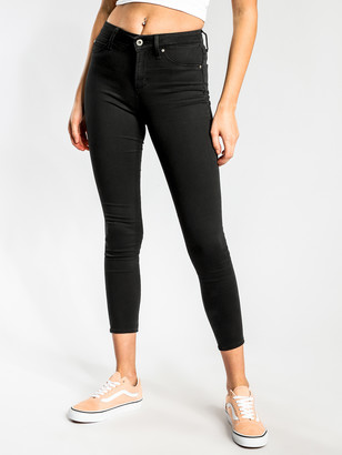 Articles of Society Cisco High-Rise Super-Skinny Jeans in Black-Out Denim