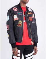 GCDS Patch-detailed shell bomber jacket