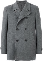 Corneliani classic peacoat - men - Silk/Polyamide/Polyester/Virgin Wool - 48
