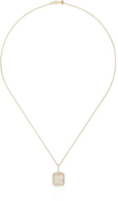 Mateo 14kt gold S initial necklace