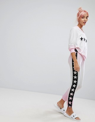 Wildfox Couture Star Print Sublimation Lounge Jogger