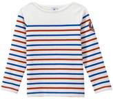 Petit Bateau Boys heavyweight jersey sailor top in three colors