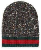 Gucci Wool, Alpaca & Silk Blend Cable Knit Hat