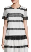 MICHAEL Michael Kors Crochet-Trimmed Top