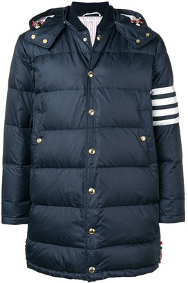 Thom Browne 4-bar Matte Nylon Coat